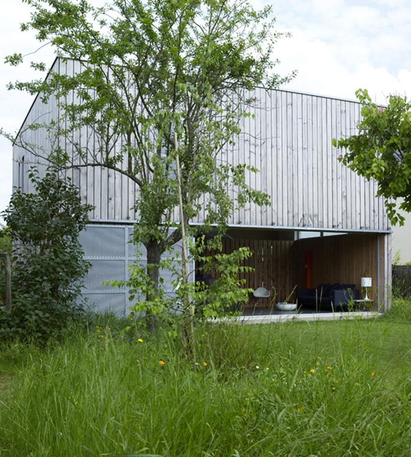 Atelier RVL architectes - Jean-Charles Liddell - MagicKub ouverte sur le jardin