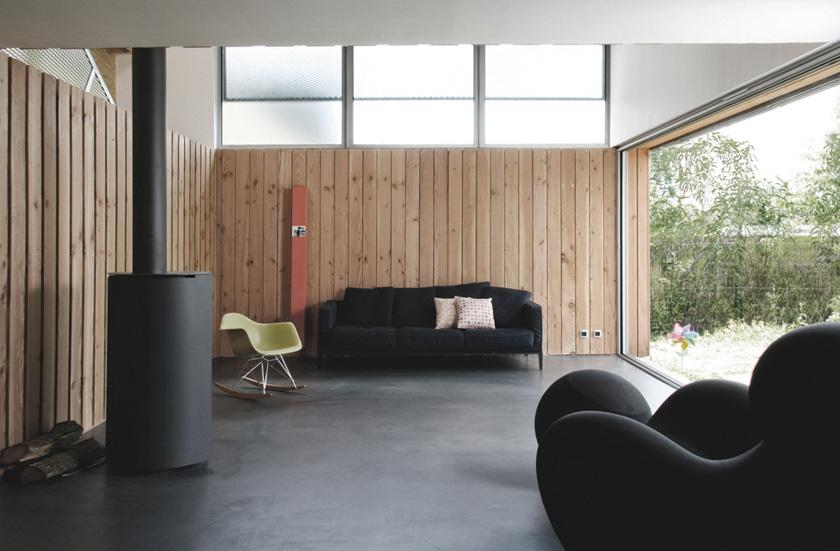 Atelier RVL architectes - Jean-Charles Liddell - MagicKub continuité de la cloison bois
