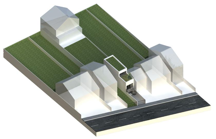 Ajile architectes - TubeHouse - Maquette 3D vue d'ensemble
