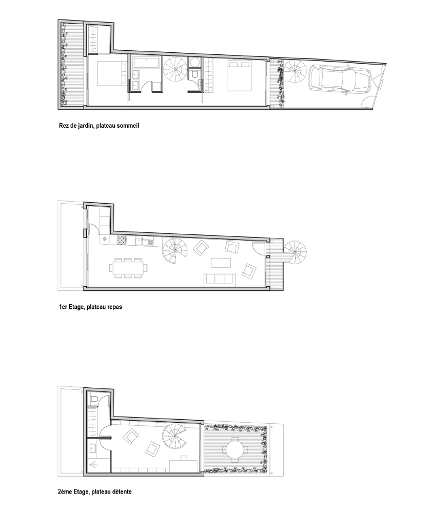 Ajile architectes - TubeHouse - Plans