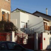 Maison Tube sur rue de l'agence Ajile architectes