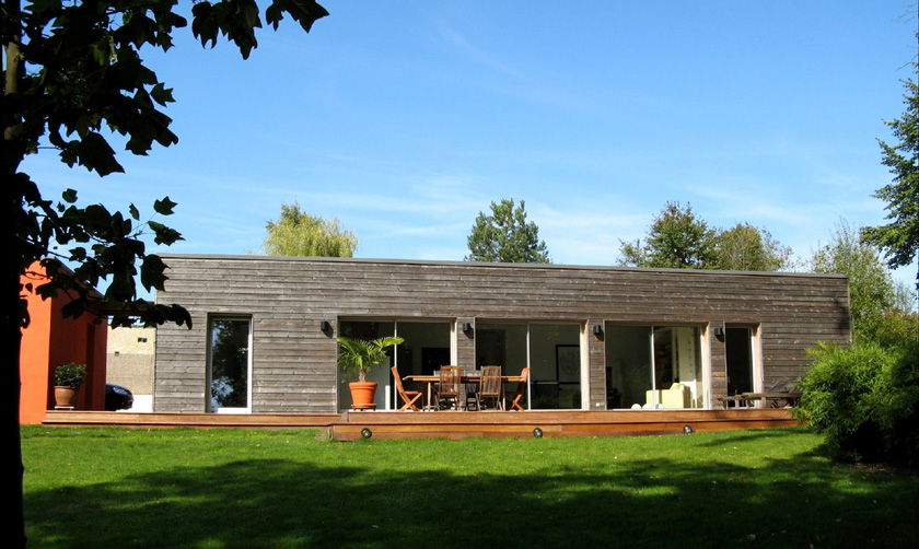 maison d\'architecte bois contemporaine