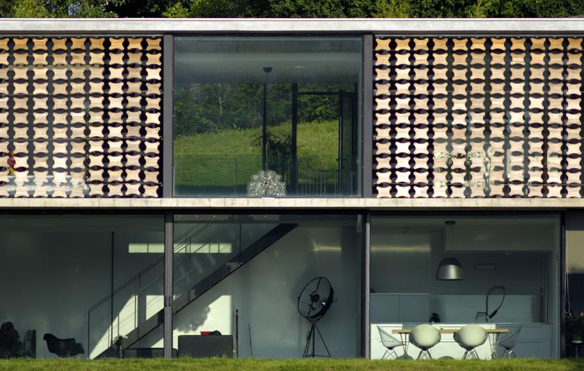 Les deux niveaux de la maison Biscuit - Pierre Minassian architecte - AUM
