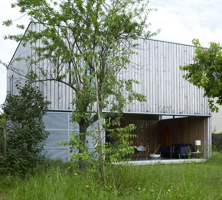 Maison cube en bois - Jean-Charles Liddell architecte