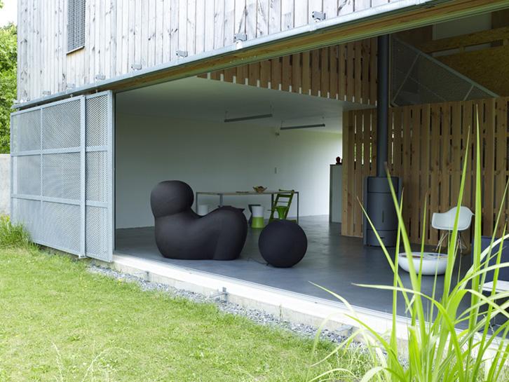 Maison bois - Large ouverture sur le jardin