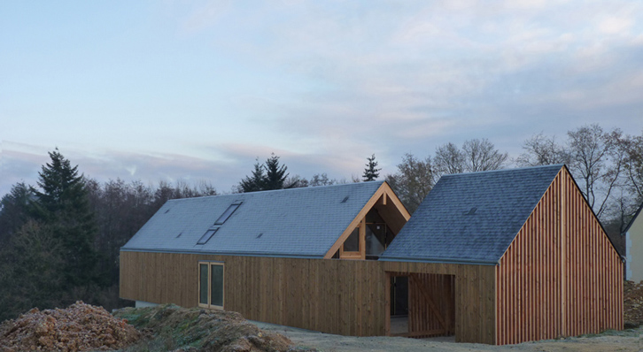 RVL architectes – Grange contemporaine en bois