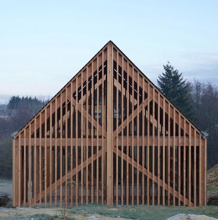 RVL architectes – Pignon de la maison bois