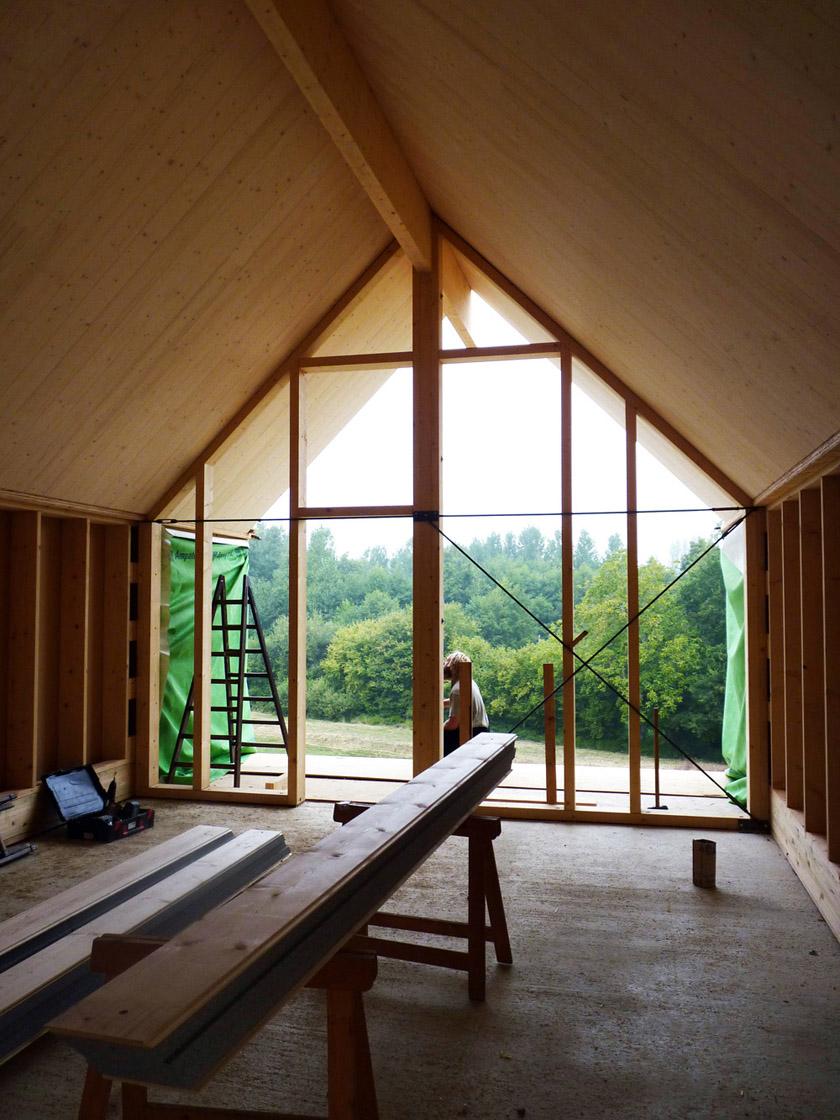 RVL architectes - Grange contemporaine - Vue intérieure