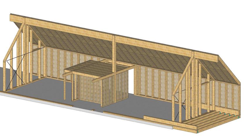 RVL architectes – Maison en bois – Axonométrie