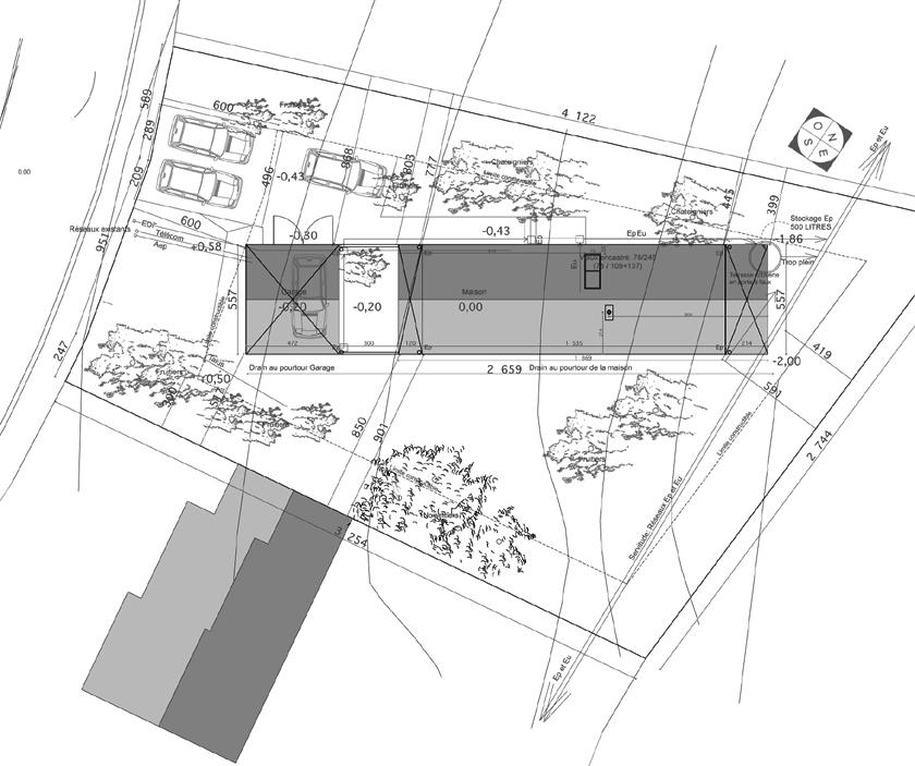 RVL architectes – Maison en bois – Plan de masse