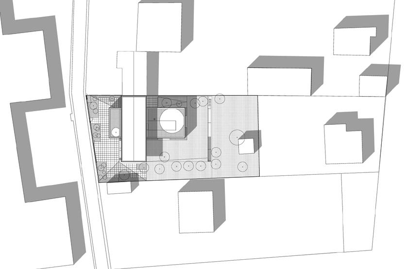 Maison R - Colboc Franzen & associés - Plan de masse