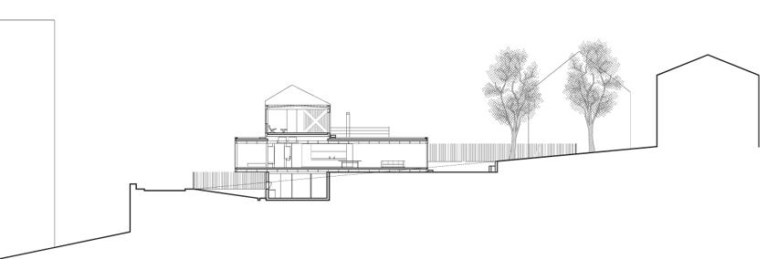 Maison R - Colboc Franzen & associés - Coupe sur le projet