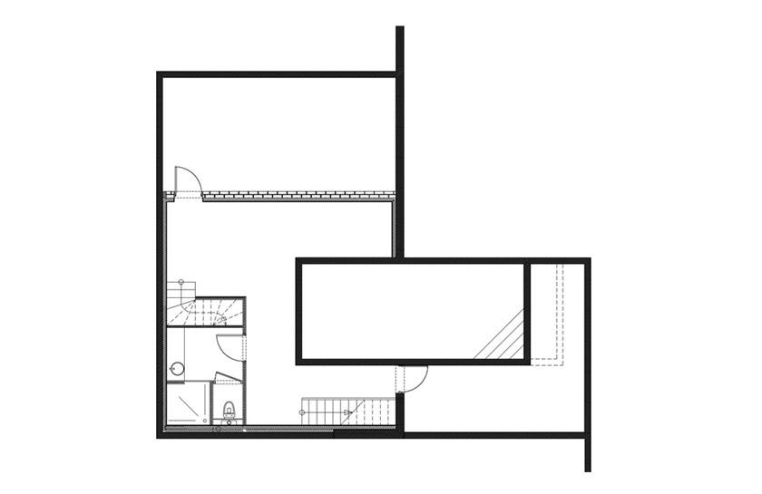 Maison contemporaine à Wasquehal – APLA architectes – Plan du sous-sol
