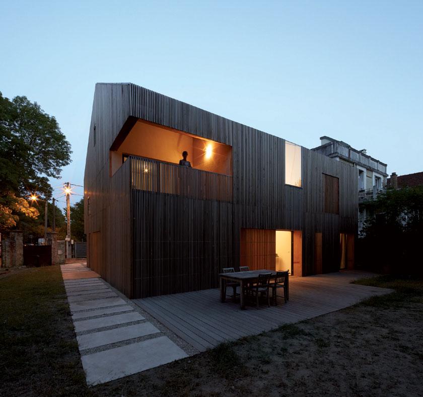 Maison 2G - Avenier & Cornejo architectes - Vue de nuit