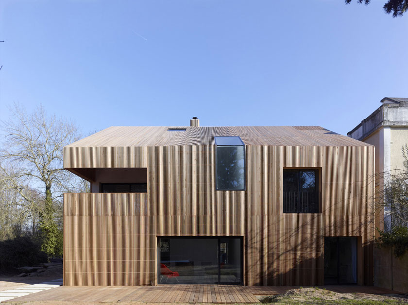 Avenier & Cornejo - Maison 2G - Vue de face ouverte