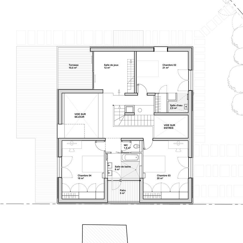 Avenier & Cornejo - Maison 2G - Plan de l'étage