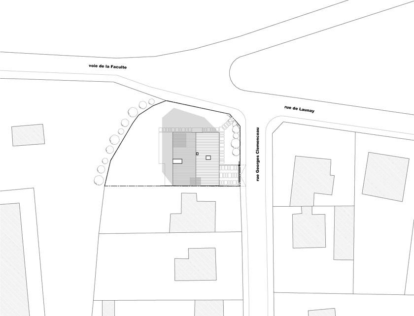 Avenier & Cornejo - Maison2G - Plan de masse