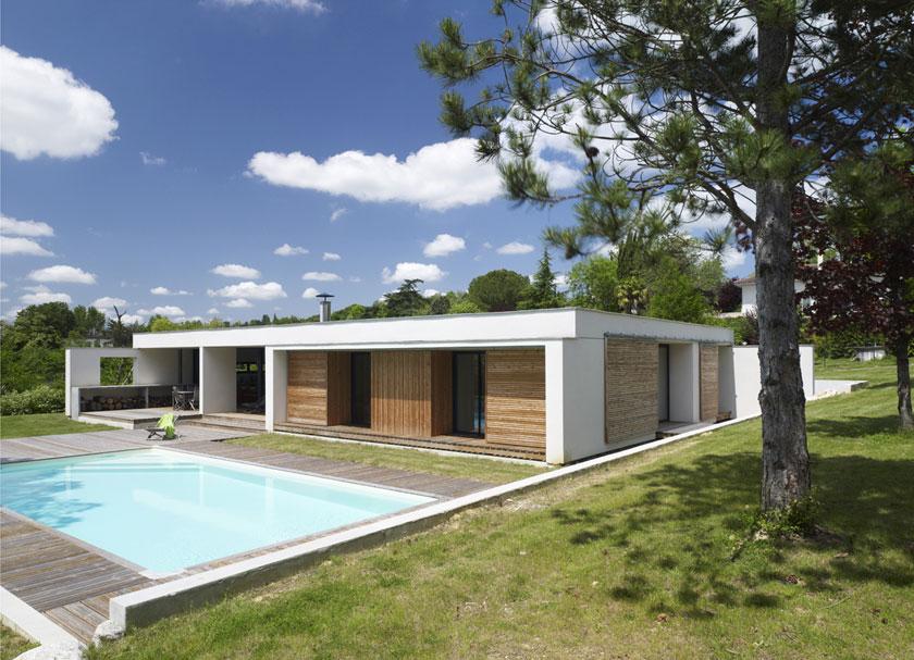 Maison C - Prax architectes - Terrasse sur la piscine
