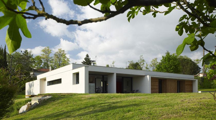 Maison C - Prax architectes - Béton blanc