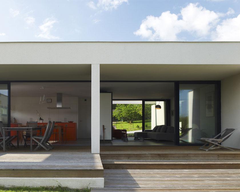 Maison C - Prax architectes - Espaces intérieurs en retrait