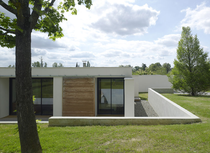 Maison C - Prax architectes - Intégration au terrain