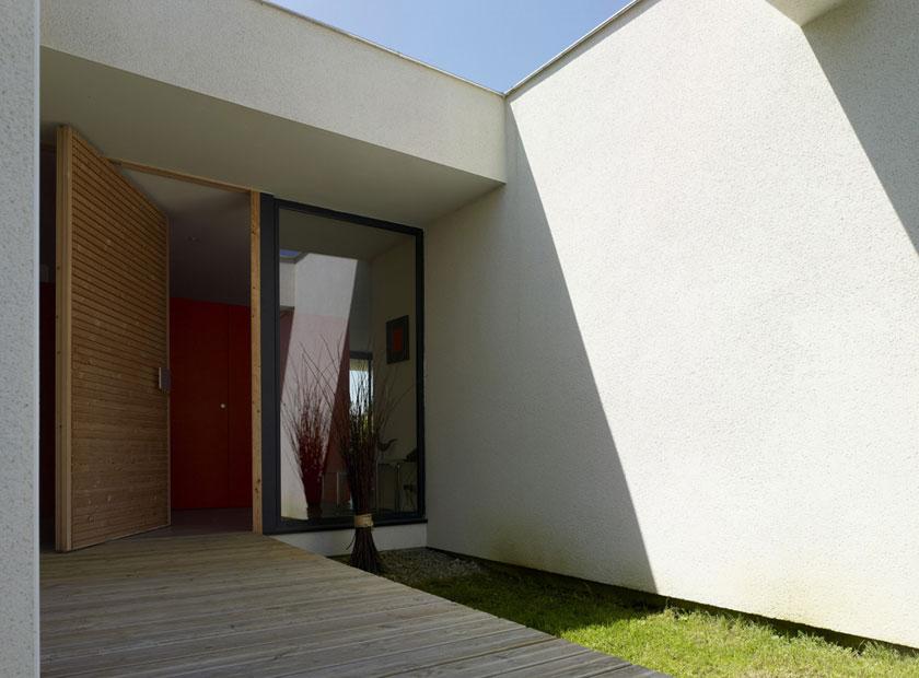Maison C - Prax architectes - Retrait des façades