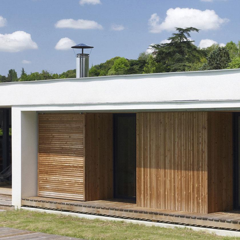 Maison C - Prax architectes - Bois en façade