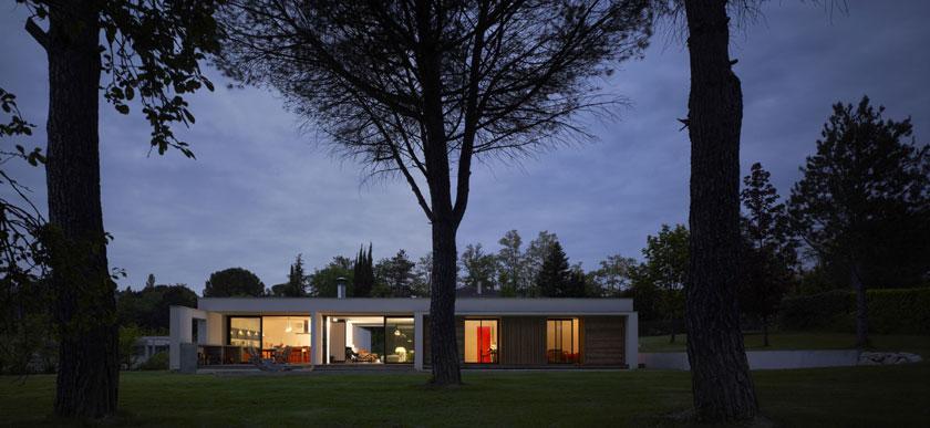 Maison C - Prax architectes - Vue de nuit