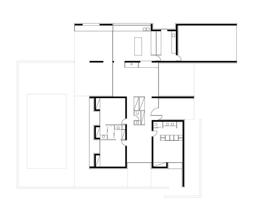 Plan de la Maison C - Prax architectes