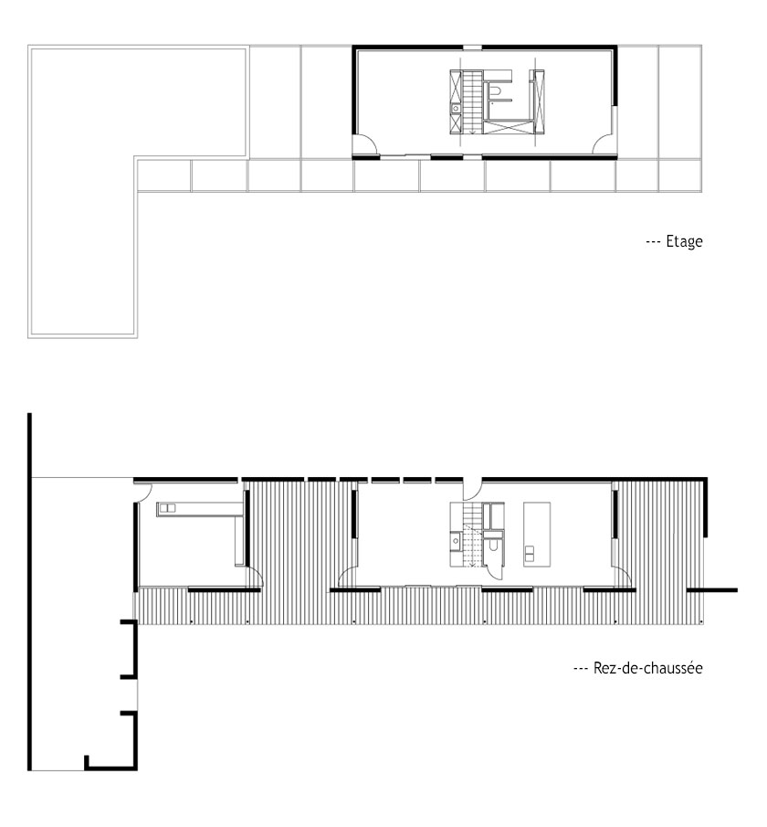 Maison P1 - Prax architectes - Plans