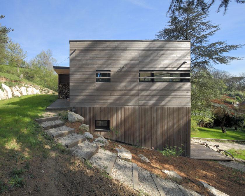 Maison MRZS pignon - AAGB Atelier d'architecture Gilles Bertrand