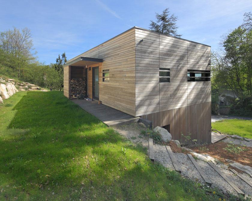 Maison MRZS vue arrière - AAGB Atelier d'architecture Gilles Bertrand