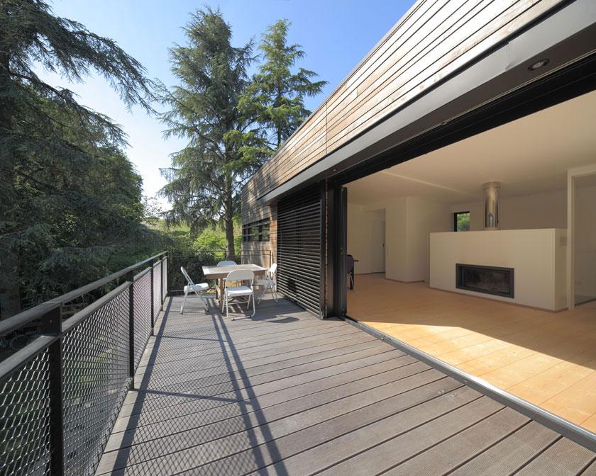 Maison MRZS - AAGB - Terrasse suspendue
