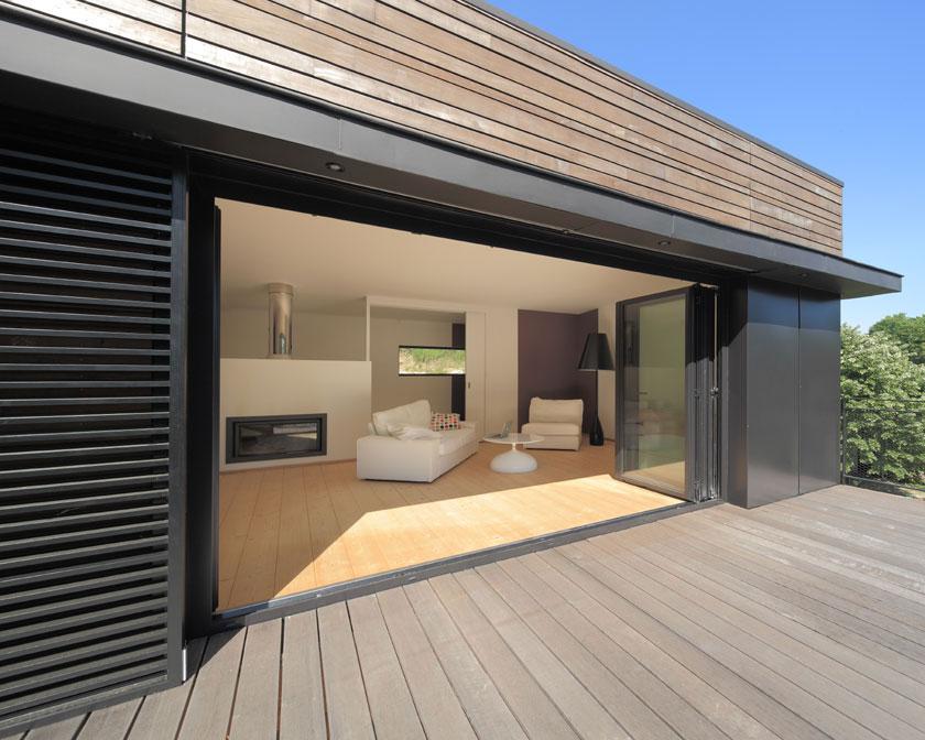 Maison MRZS - AAGB - Séjour ouvert sur la terrasse