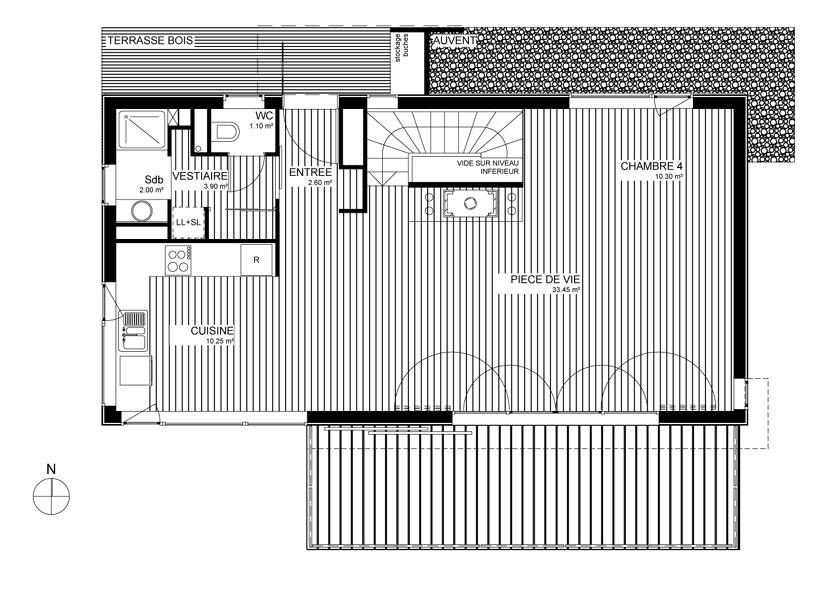 Maison MRZS AAGB - Plan du R+1