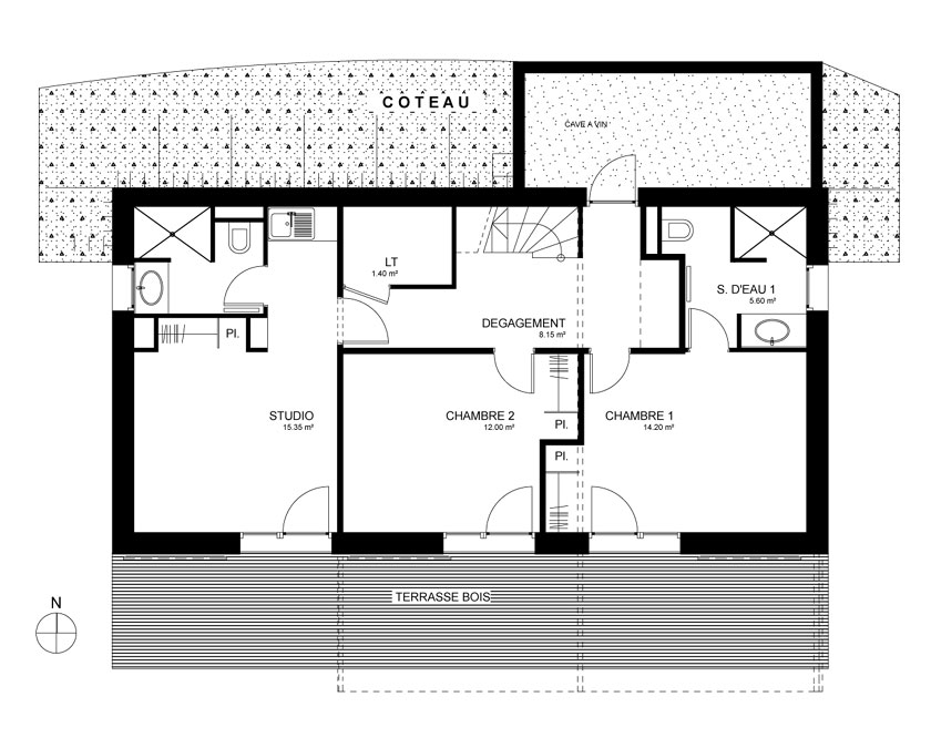 Maison MRZS AAGB - Plan du RDC