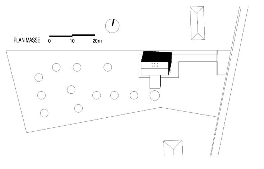 Lode architecture - Maison G - Plan de masse