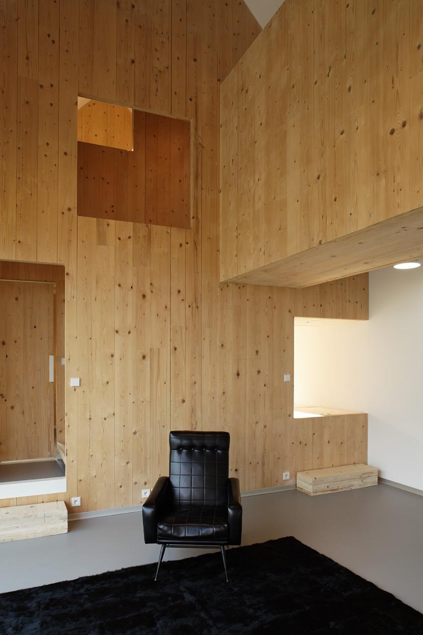 Lode architecture - Maison G Intérieur bois