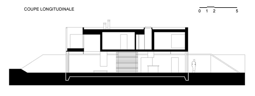 Lode architecture - Maison D - Coupe longitudinale