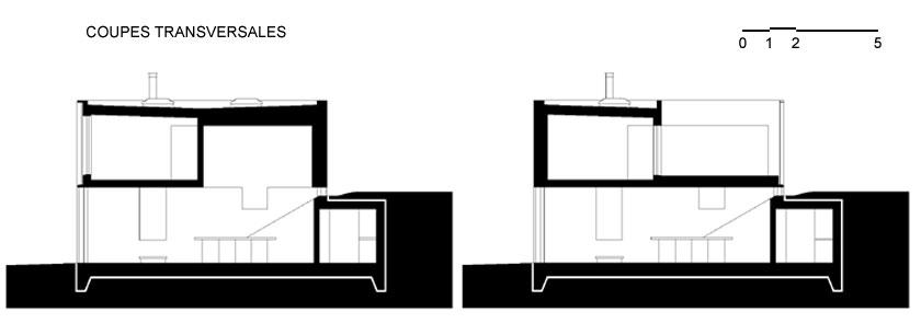 Lode architecture - Maison D - Coupes transversales