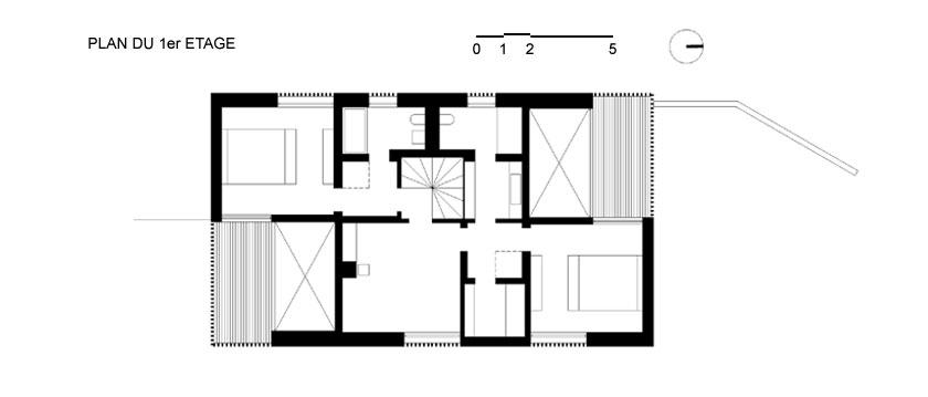 Lode architecture - Maison D - Plan étage