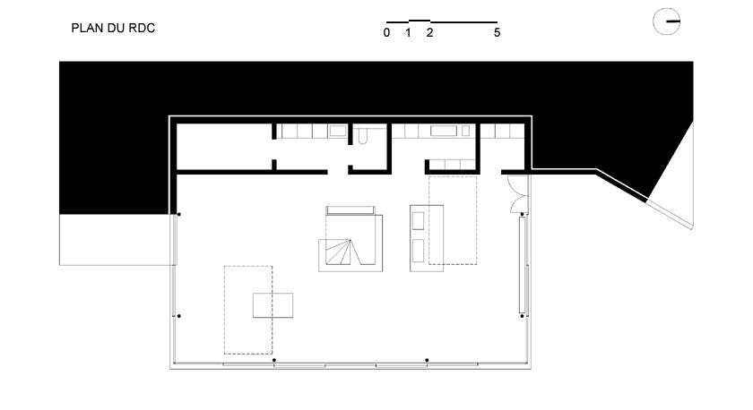 Lode architecture - Maison D - Plan du RDC