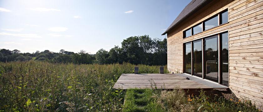 Lode architecture - Maison F - Terrasse ouverte sur le paysage