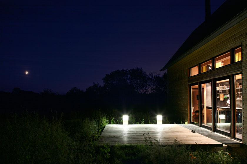 Lode architecture - Maison F - Terrasse de nuit