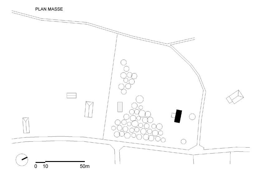 Lode architecture - Maison F - PLAN MASSE