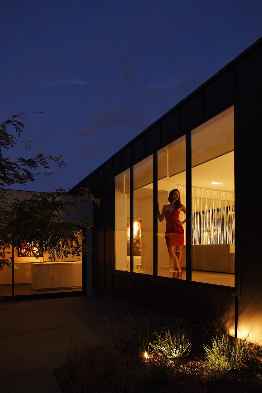 Lode architecture - Maison C - Le salon éclairé