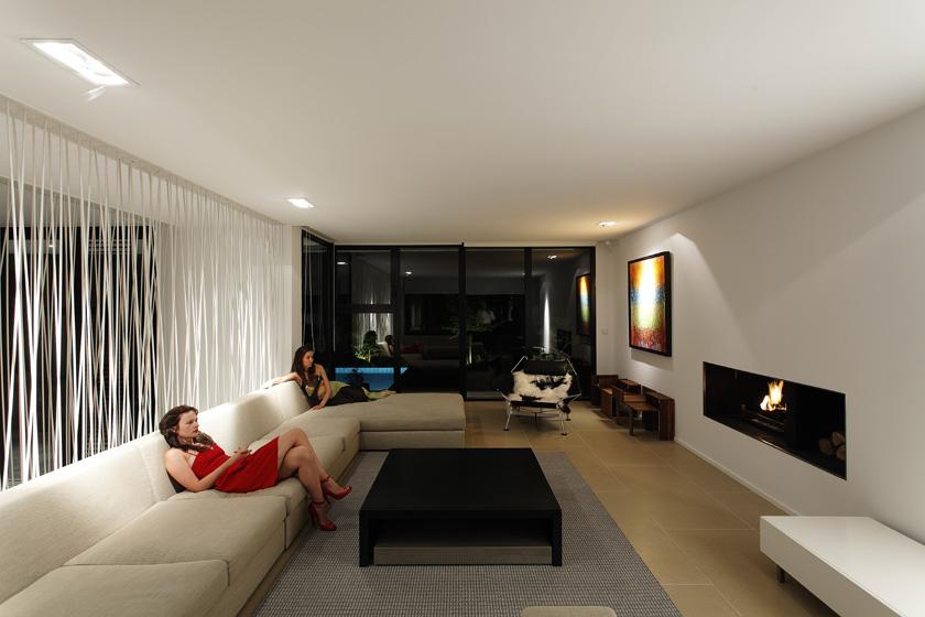 Lode architecture - Maison C - Salon cheminée