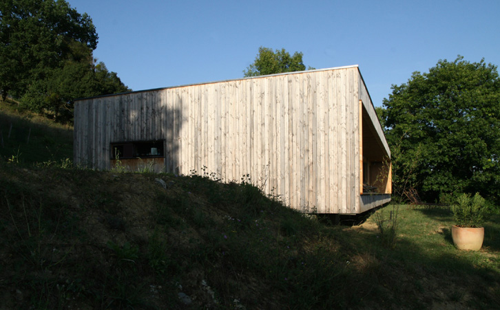 Prax architectes - Maison P3 Accrochée à la pente