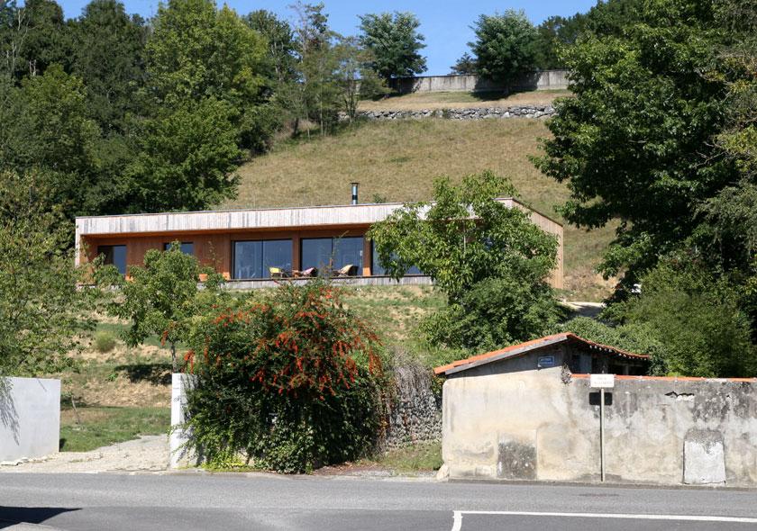 Prax architectes - Vue de la maison P3