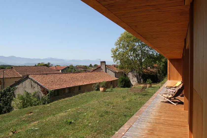 Maison P3 - Prax architectes - Vue depuis la terrasse
